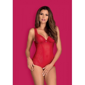 Obsessive ROUGEBELLE crotchless teddy